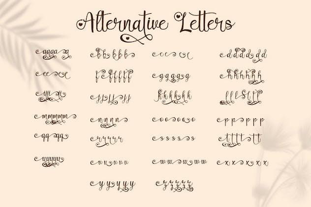 Lovely Couple - Romantic Script Font - product preview 6
