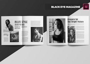 Thumbnail for Black Eye   Magazine Template