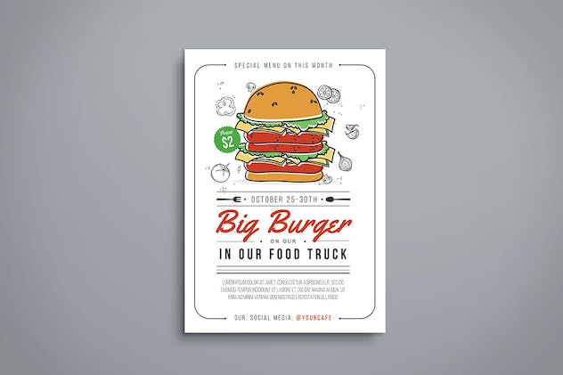Burger Flyer - product preview 1