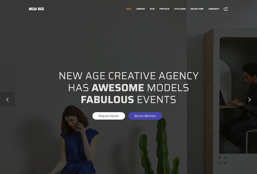 New Age - Creative Agency Joomla Template - product preview 1