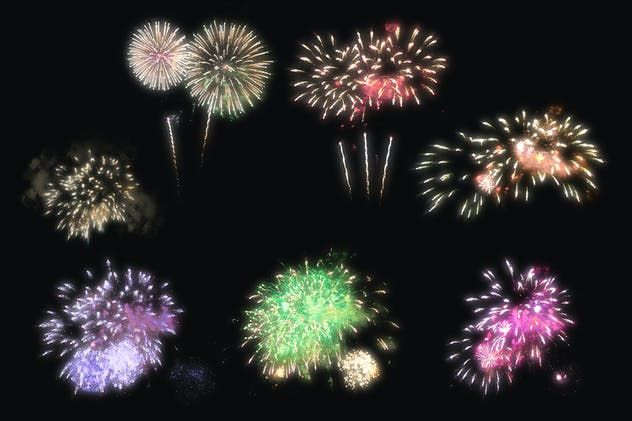 100 Firework Overlays - product preview 13