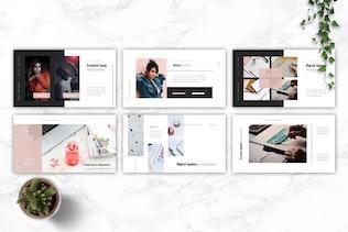 Миниатюра для MEERA - Шаблон креативного Агентство Powerpoint