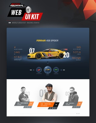 Thumbnail for Moto Rangers web UI kit