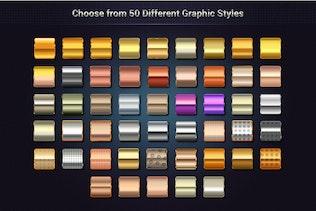 Миниатюра для Максимальные металлические графические стили для Illustrator