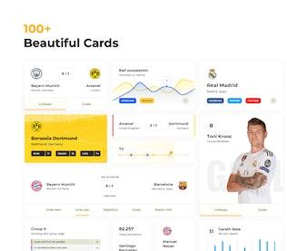 Soccer UI Cards
