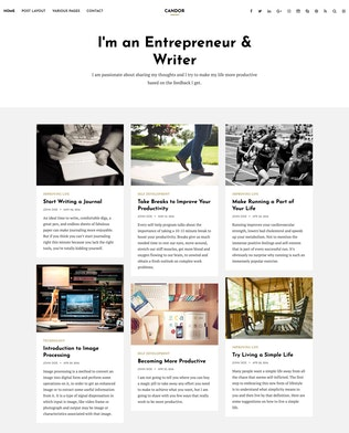 Thumbnail for Candor - Responsive WordPress Blog Theme