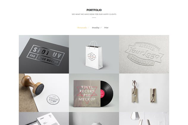 Oringin - Creative Onepage MUSE Template - product preview 1