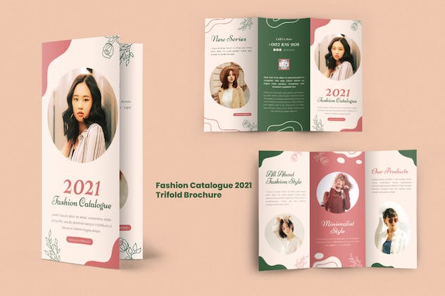 Fashion Catalogue 2021 Trifold Brochure - product preview 4