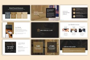 Thumbnail for Milcheur - Law Google Slides Template