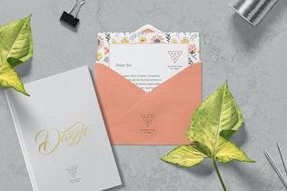 Thumbnail for Greeting Card & Envelope Mockups