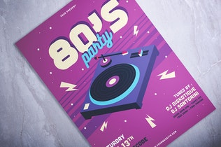 Thumbnail for 80's Party Flyer