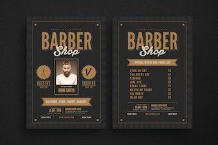 Hipster barbershop flyer