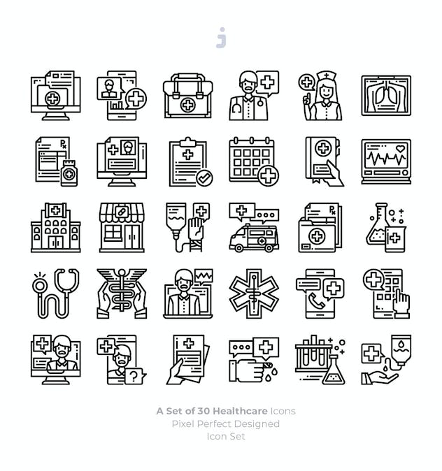 30 Healthcare Icons