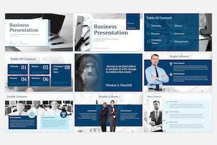 Thumbnail for Blue Business Presentation