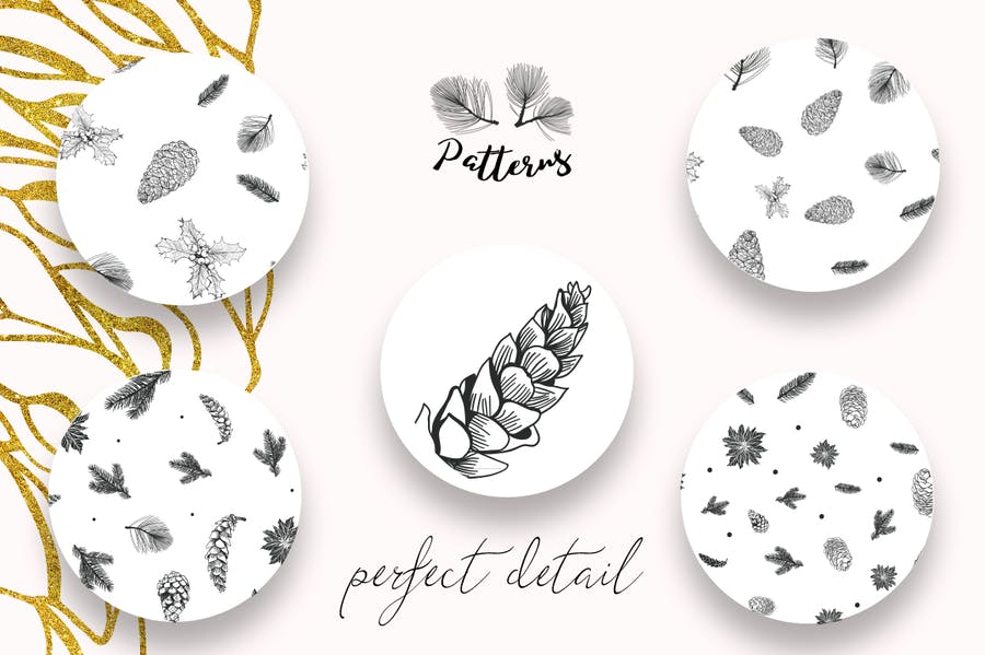 44 Winter patterns set - product preview 3
