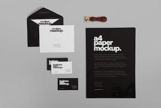 Thumbnail for 6 Stationery Design Mockups