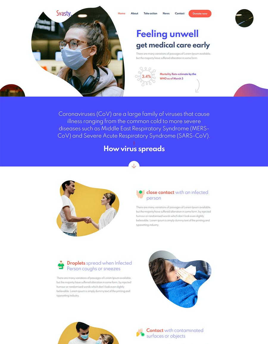 Svasty Healthcare Service Landing Page Template - product preview 2
