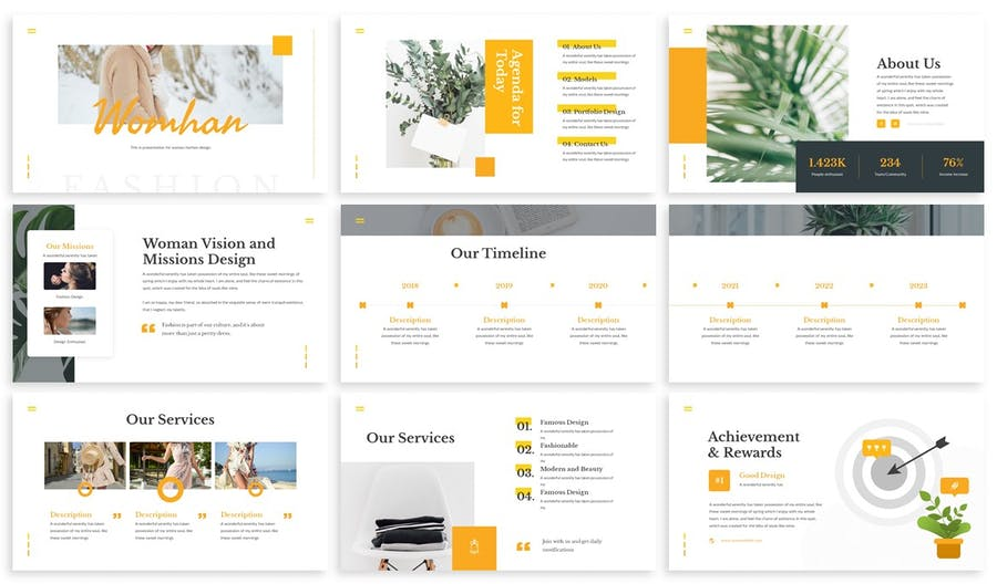 Womhan - Fashion Google Slides Template