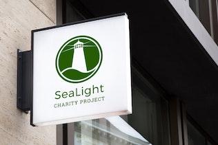 Thumbnail for Sealight : Negative Space Lighthouse Logo