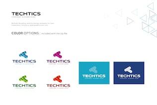 Thumbnail for Techtics Letter T Logo