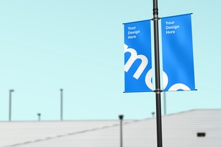 Thumbnail for Lamp Post Banner Mockup