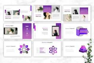 Thumbnail for QUANTUM- Company Profile Powerpoint Template