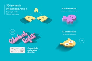 Thumbnail for 3D Isometric Photoshop Action