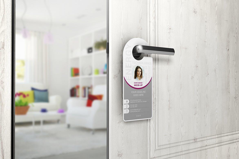 Door Hanger Mock-Up by StreetD on Envato Elements