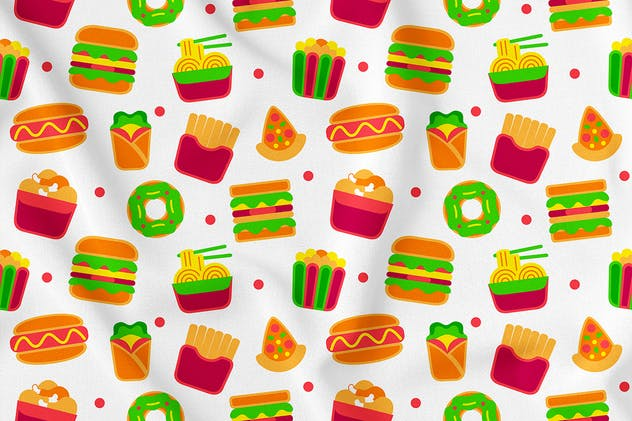 Fastfood Seamless Pattern Vol. 1