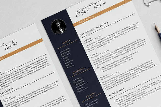 Professional Resume Taslim - product preview 3