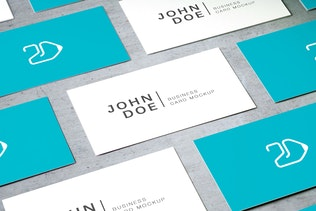 Thumbnail for 90x50 Business Card Mockup