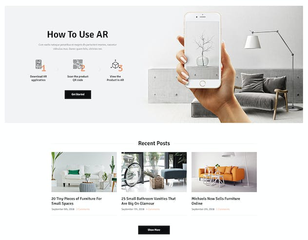 Ozisti | Augmented Reality WooCommerce Theme - product preview 3