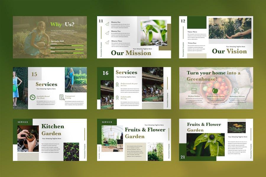 Ellen - Home Gardening Powerpoint Presentation - product preview 2