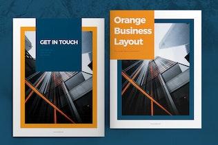 Thumbnail for Orange Brochure Layout