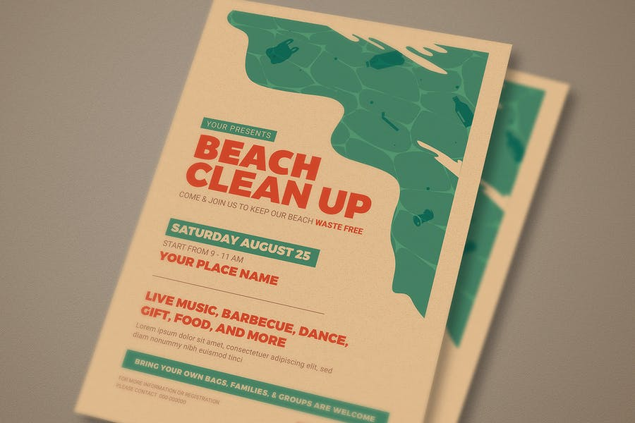 Beach Clean Up Event Flyer - product preview 2