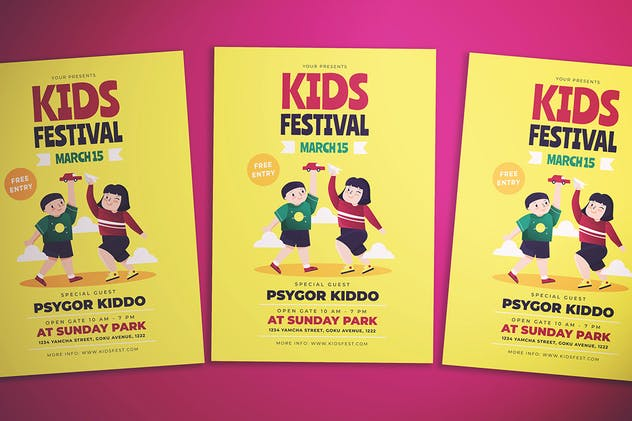 Kids Fest Flyer - product preview 3