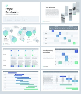 Thumbnail for Project Dashboards for Google Slides