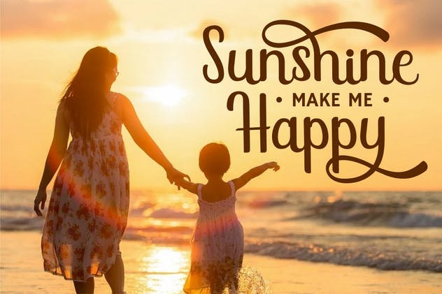 Sunshine Mind - Display Script Font - product preview 4