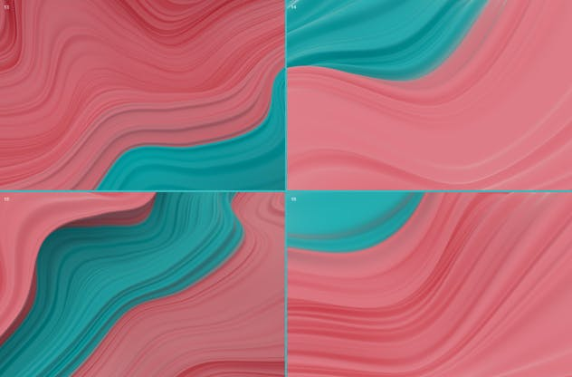 Abstract 3D Wavy Striped Backgrounds - product preview 9