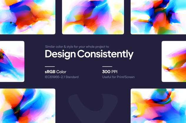 Watercolor Glitch Backgrounds - product preview 3