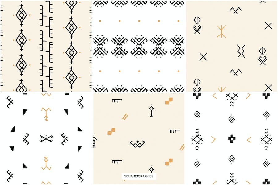 Moroccan Berber Seamless Patterns - product preview 1