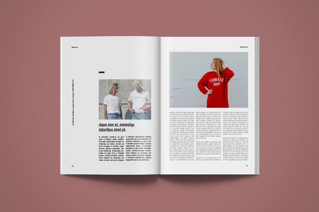 Magazine Template | More - product preview 7