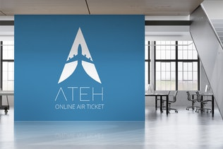 Thumbnail for Ateh : Negative Space Plane Logo