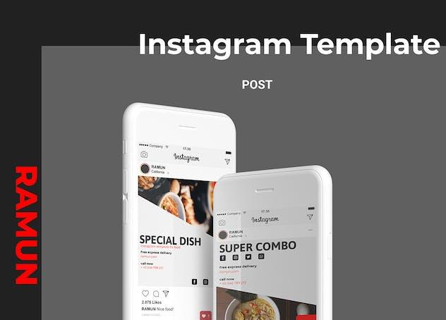 Ramun - Ramen Food Social Media Post Part 10 - product preview 4