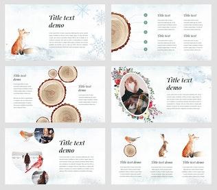 Winter - Watercolour PowerPoint Template