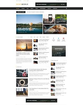 Thumbnail for Newsworld   Mutil-Concept Magazine HTML5 Template
