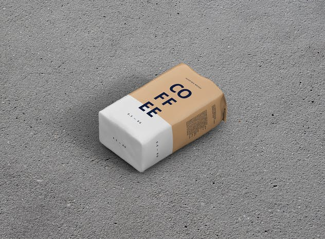 Coffee Paper Bag Mockup - product preview 7