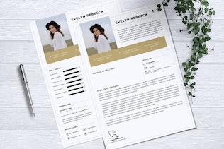 Thumbnail for Minimalist CV Resume Vol. 37