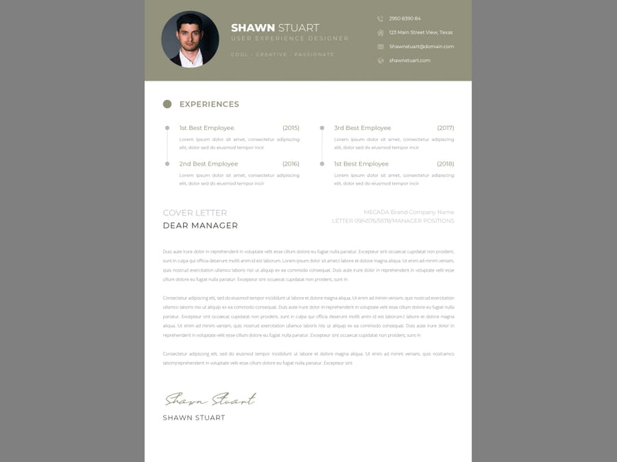 Business CV Resume - product preview 2