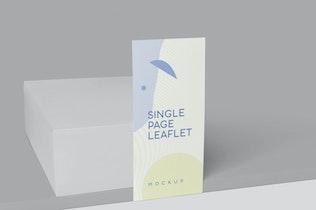 Thumbnail für Einzelseitige vertikale Broschüre Mock-ups